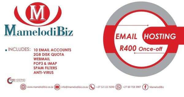 MamelodiBiz Email Hosting Special
