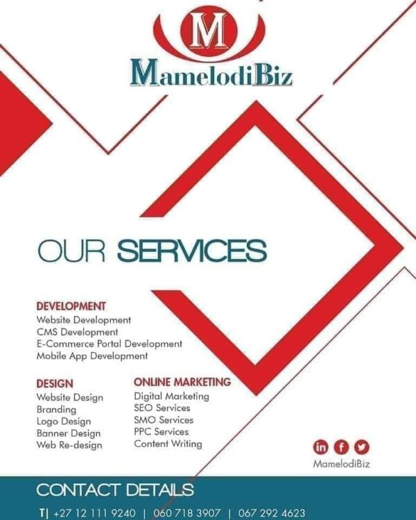 MamelodiBiz Flyer Design Services