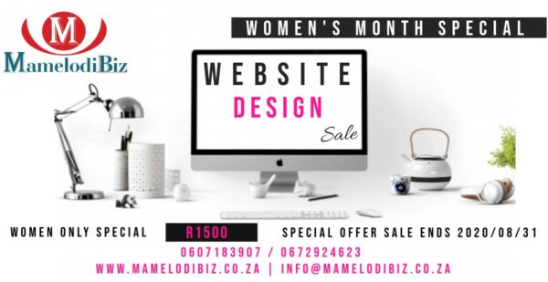 Women's Month Website Design Special