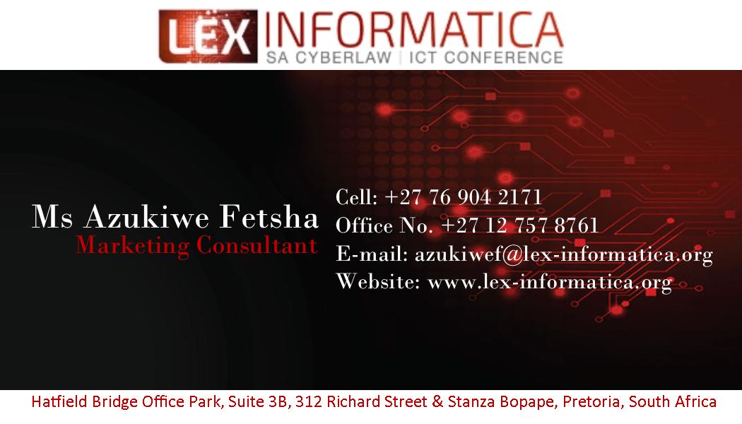 Lex Informatica Business Cards